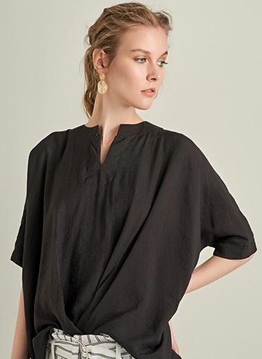 NGSTYLE Oversize Bluz Siyah